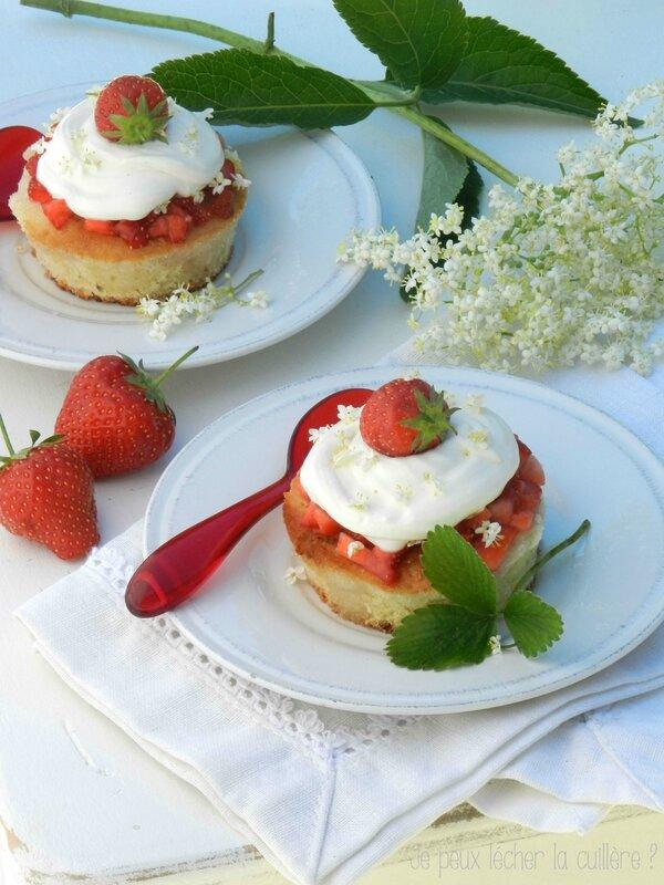 Génoise aux fraises et fleurs de sureau3