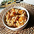 Risotto butternut gorgonzola et jambon
