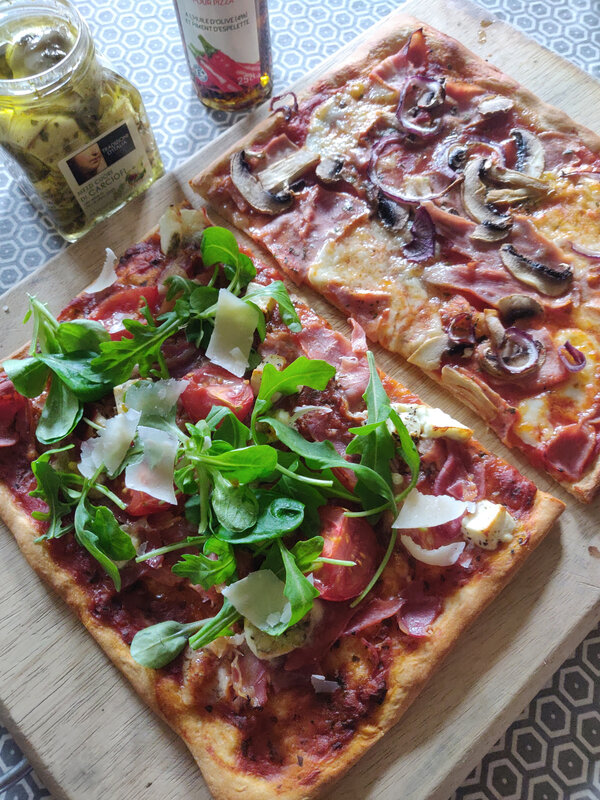 pizza forestière + italienne (2)