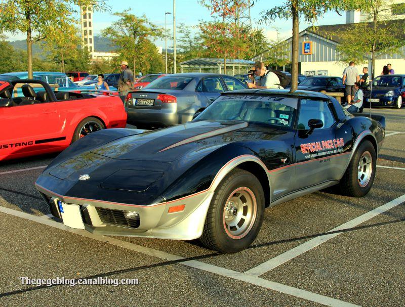 Chevrolet corvette coupe official pace car replica de 1978 (Rencard Burger King septembre 2011) 01