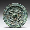 Rare miroir en bronze, chine, dynastie des han orientaux, iie siècle ap. j.-c