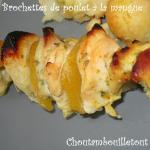brochette poulet mangue