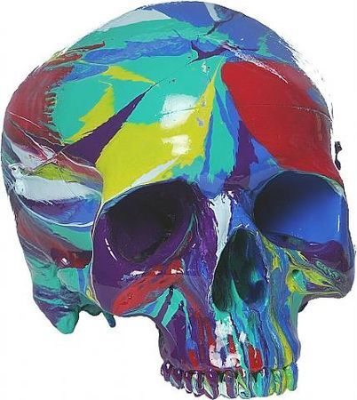 Damien Hirst, Hallucinatory Head. Household gloss on plastic skull, Unique within a series of 50, h: 21 x w: 14 x d: 14 cm. Other Criteria