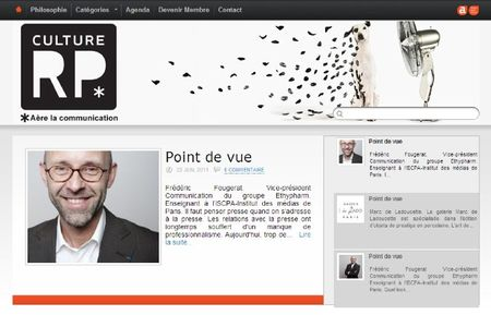 Culture RP new blog - Frederic Fougerat