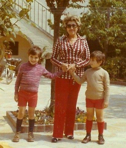 1972 François et Marc avec leur Grand-Mère maternelle