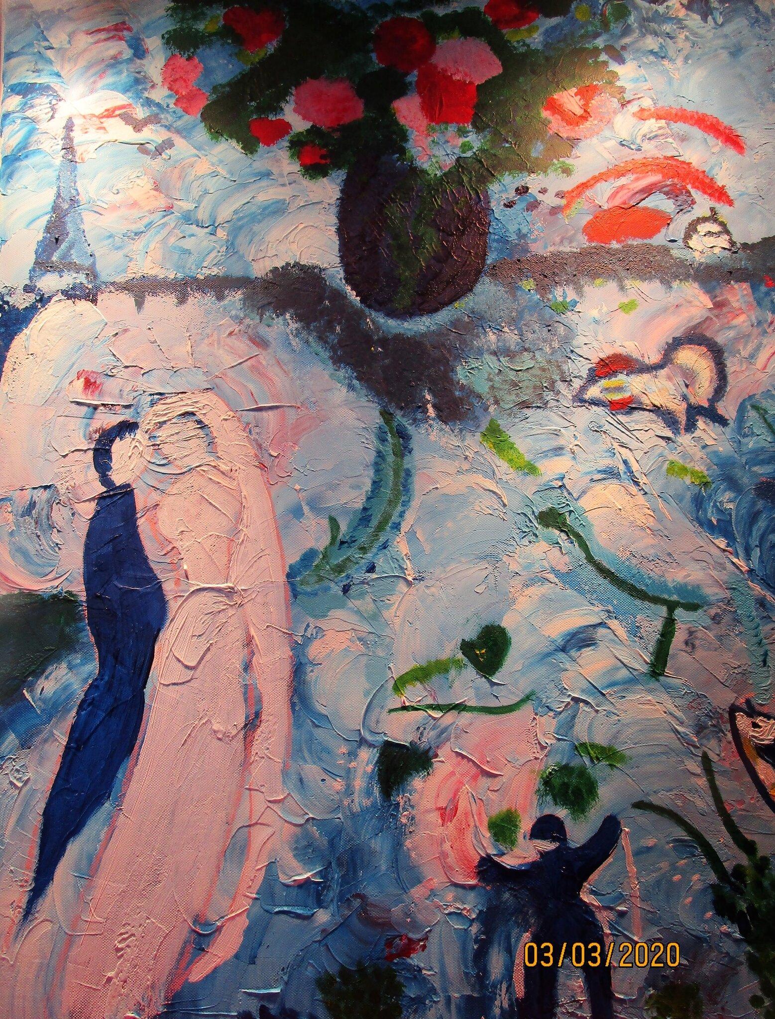 Tableau D Apres Chagall Par Suzanne Domi Dessins Et Peintures