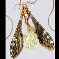 Bijou - Femme libellule Pendant cou avec chaine - 3