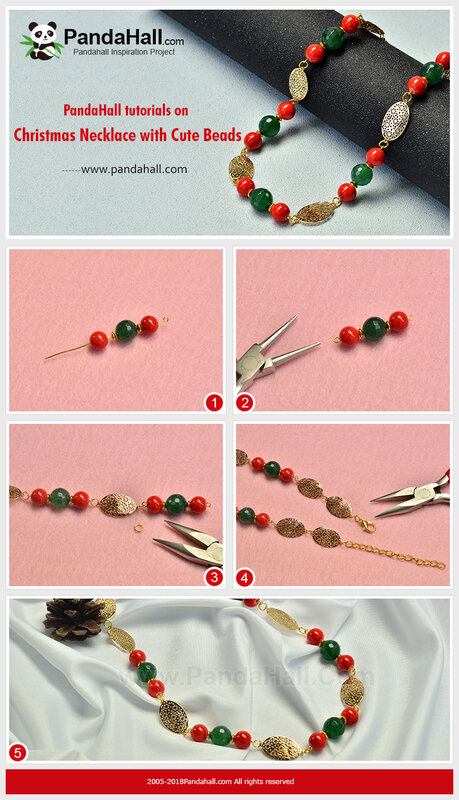PandaHall-tutorials-on-Christmas-Necklace-with-Cute-Beads
