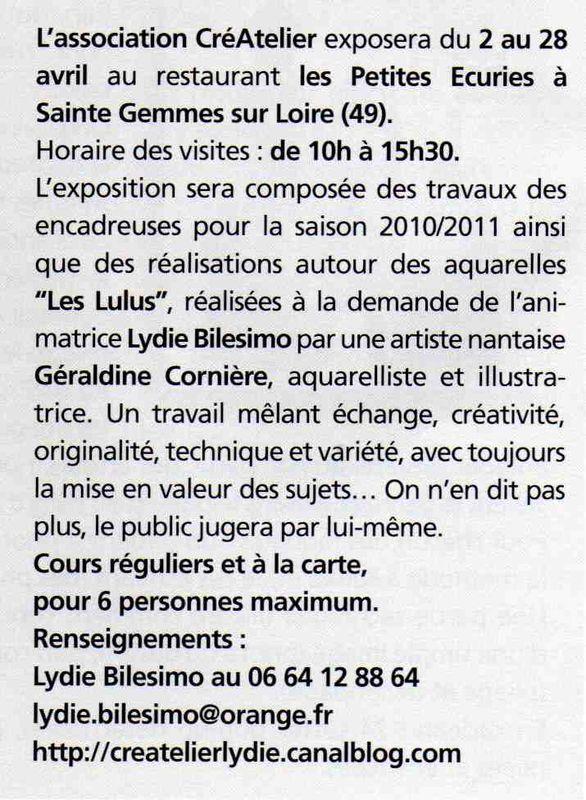 Article Idées de Cadres 02 2011