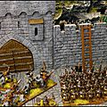 Warmaster / battle of five armies - un siège à l'échelle