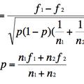 1.2 comparaison de deux fréquences observées