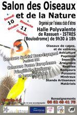 Affiche Istres 2015 Salon des oiseaux reptiles et de la nature