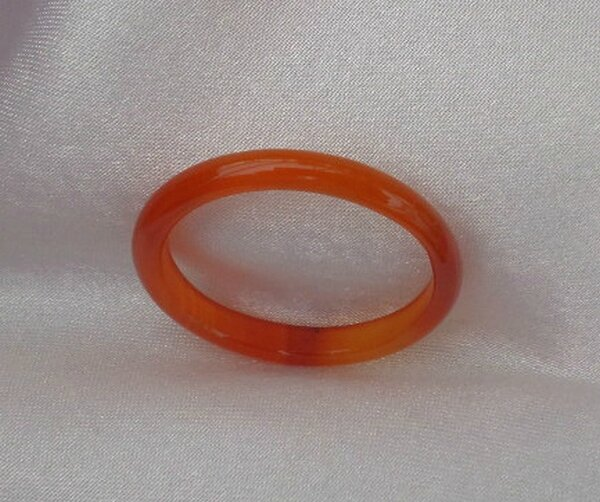 Bague Anneau Alliance Unisexe Jade Rouge Taille 59-60