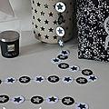 guirlande pastille étoiles noir argent gris banc - décoration chambre rock argent noir blanc enfant adulte adolescent 2