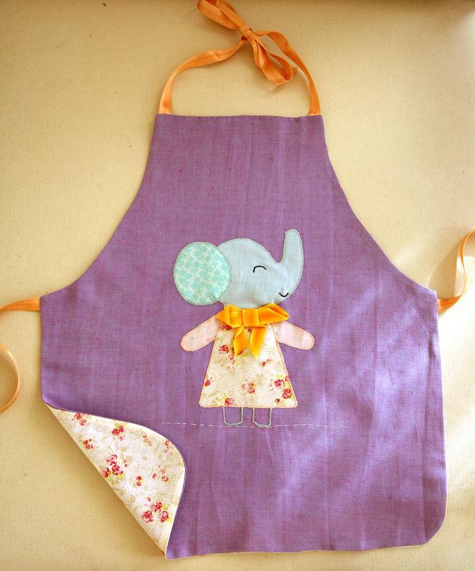 tablier éléphant enfant