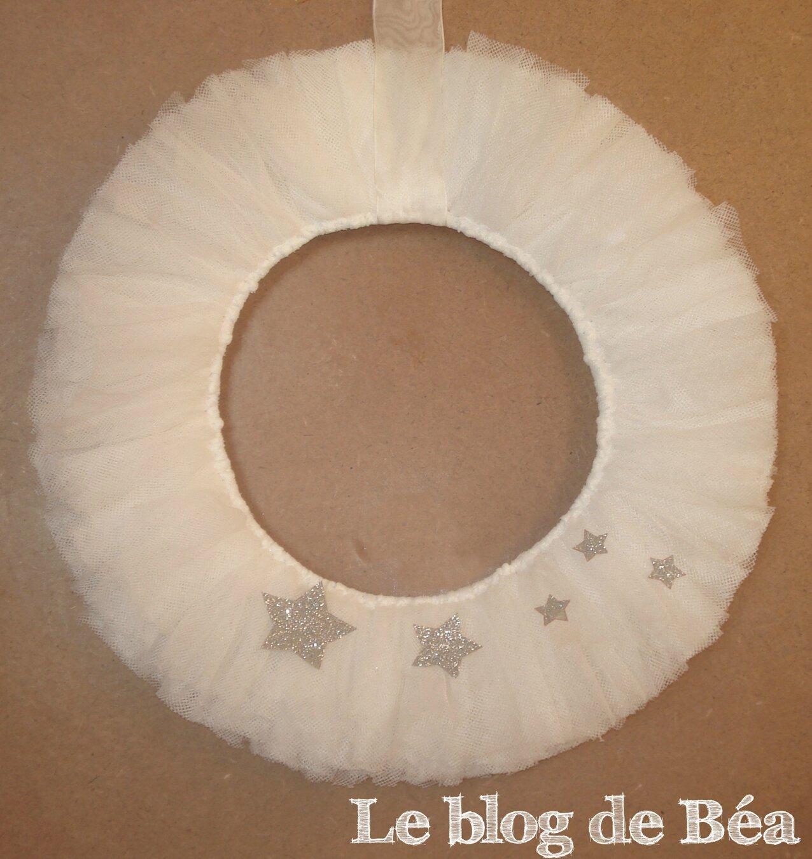 DIY : couronne de Noël en tulle