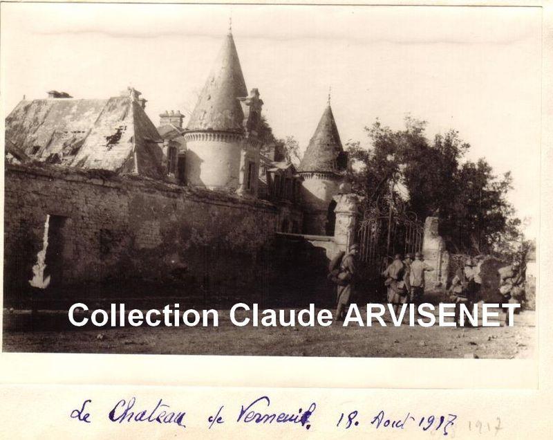 Chateau de Verneuil 18 Août 1917