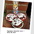 Cupcakes chocolat noir - noix de coco