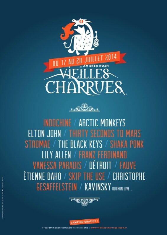 festival les Vieilles Charrues 2014 Carhaix affiche visuel