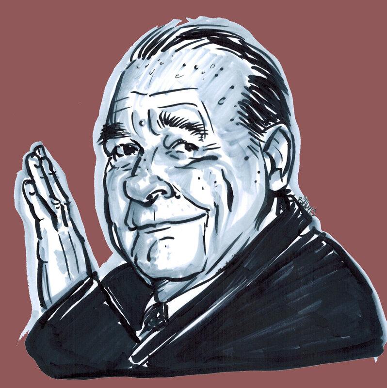 CHIRAC Jacques ancien président république française deces dcd caricature