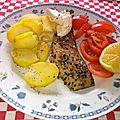 Salade de filets de maquereaux fumés au poivre