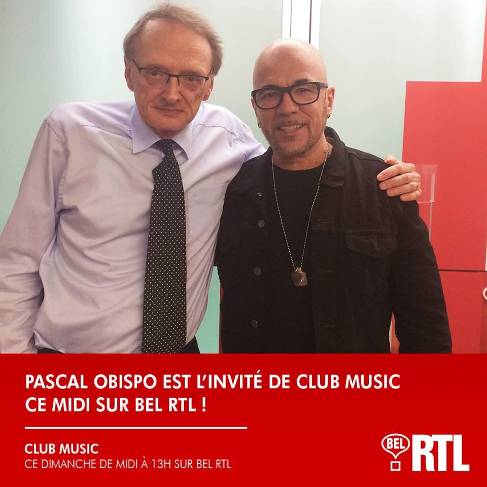 [PODCAST] Pascal Obispo invité du Club Music sur Bel RTL