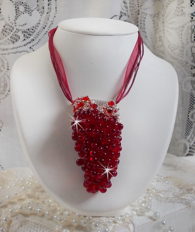 Collier pendentif Tendre Rouge 0-1