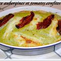 Flan aux aubergines ricotta et tomates confites