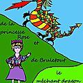 Ateliers kamishibaï, création d'un livre, conte à colorier : l'histoire de la princesse rose et de bruletout le méchant dragon