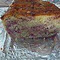 Cake marbre citron framboise
