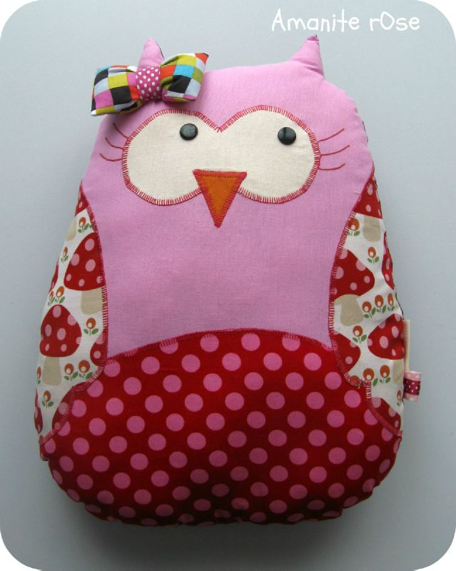 Coussin Chouette fille