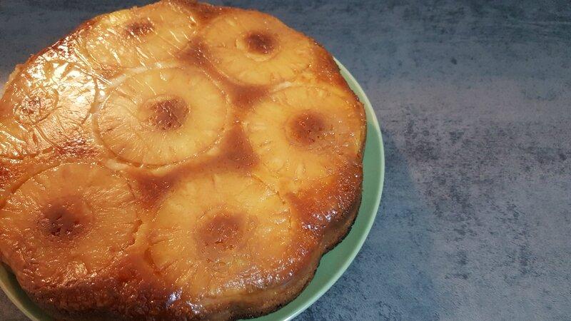gâteau renversé à l'ananas 2