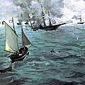 Manet, combat du Kearsage et de l'Alabama