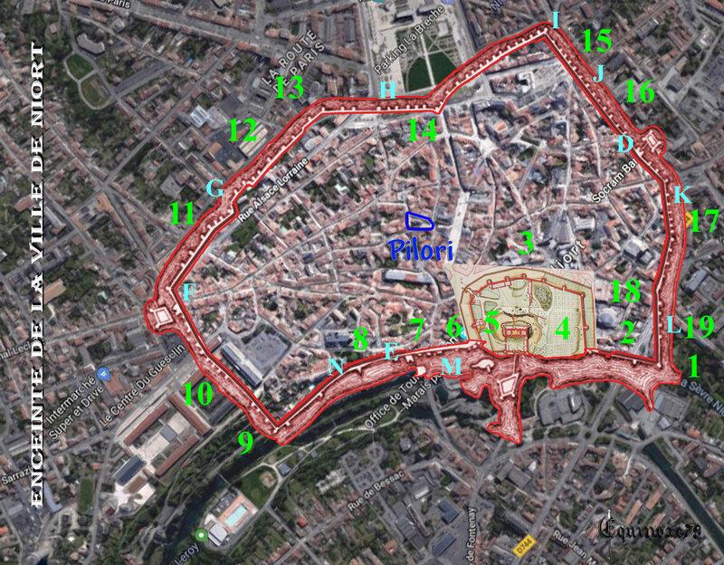 Plan fortification de Niort - Donjon