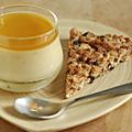 Petite crème (sans lait) parfaite pour accompagner mon maxi cookie aux flocons de châtaigne, noix de pécan & raisins de corinthe