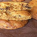 Cookies tahini chocolat au lait