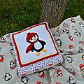 couverture_coussin_pingouin_couture_patchwork_Lachouette_bricole