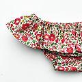 Bikini Tallulah - Liberty rouge corail