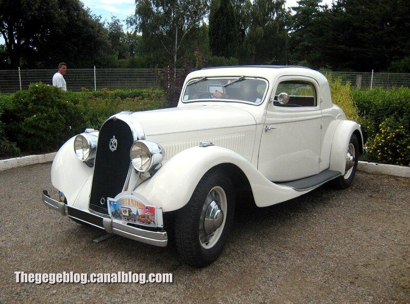 Hotchkiss 617 coupé Chapron de 1935 (Rencard mensuel Talmont St Hilaire) 01