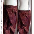Nouveau pantalon thai, tissu du laos