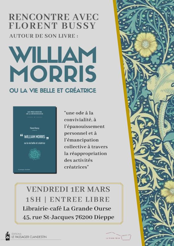 affiche rencontre william morris (1)