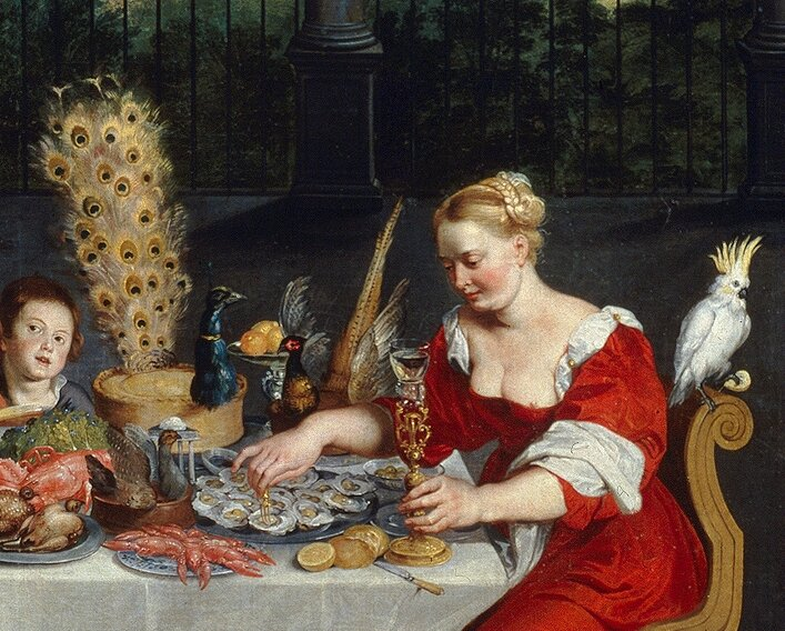 Peacock_served_in_full_plumage_(detail_of_BRUEGHEL_Taste,_Hearing_and_Touch)