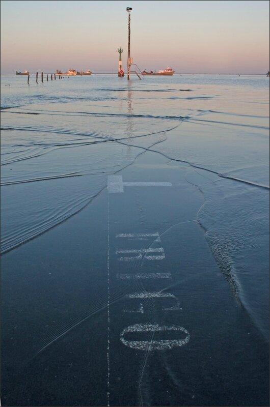 Aiguillon paysage parking frigo matin grande marée 220215
