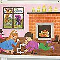 Affiche scolaire Daniel & Valérie - années 60