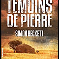 Les témoins de pierre - simon beckett - editions piranha