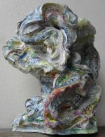 Hervé THAREL - SCHMIMBLOCK'S arbol 2014 - acrylic sur argile 31x25,5cm 3