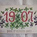 Bonne année 1907