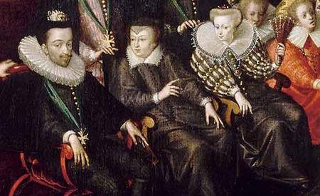 Henri III, Catherine de Médicis et Louise de Lorraine, extrait du Bal des noces du duc de Joyeuse