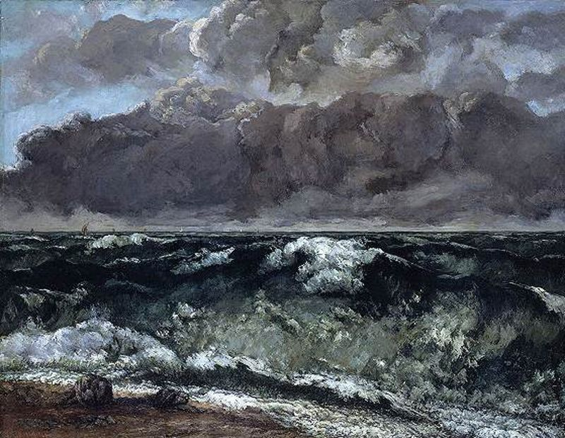 Courbet, la mer orageuse...