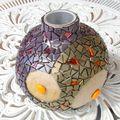 Vase boule mosaïque phase 2